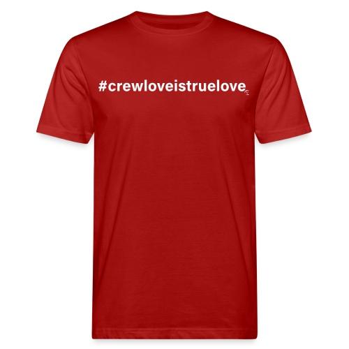 #crewloveistruelove white - Männer Bio-T-Shirt