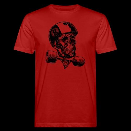Skull Longboard Rider - positive print - T-shirt bio Homme