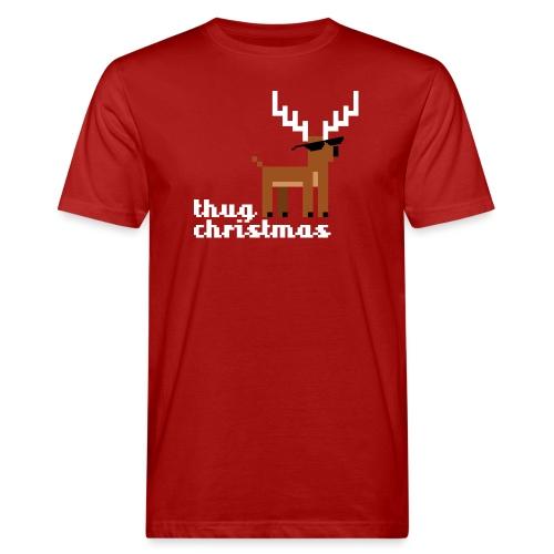 Christmas Xmas Deer Pixel Funny - Men's Organic T-Shirt