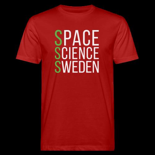 Space Science Sweden - vit - Ekologisk T-shirt herr