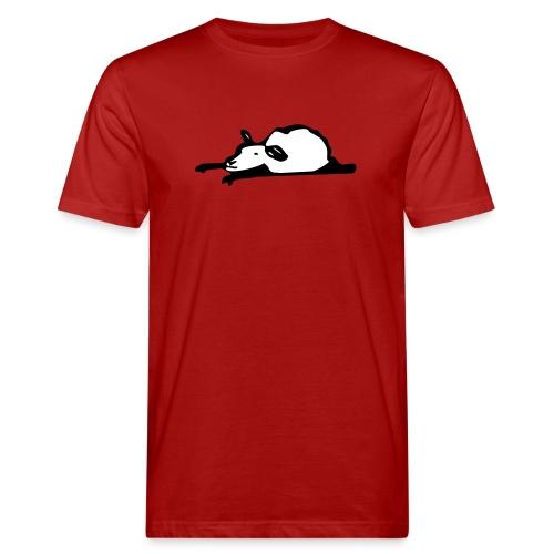 Schlafendes Schaf - Männer Bio-T-Shirt