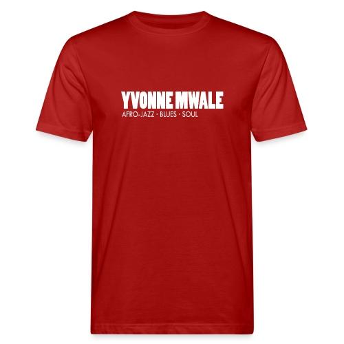 Logo_YvonneMwale_white_la - Männer Bio-T-Shirt