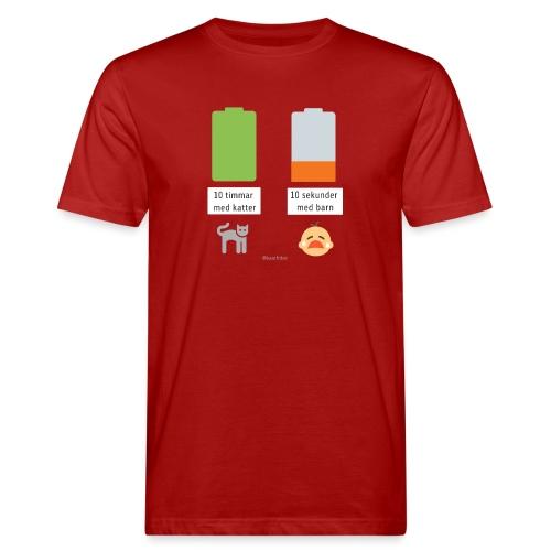 Livsbatteriet KATT - Ekologisk T-shirt herr