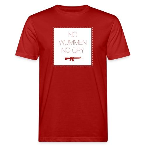 NoWummenNoCry white - Männer Bio-T-Shirt