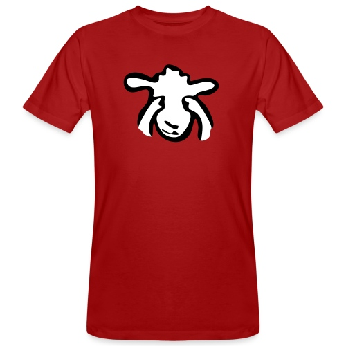 Augen zu Schaf - Männer Bio-T-Shirt