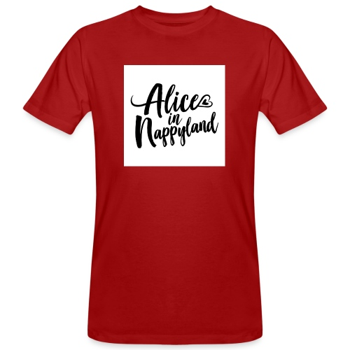 Alice in Nappyland Typography Black 1080 1 - Men's Organic T-Shirt