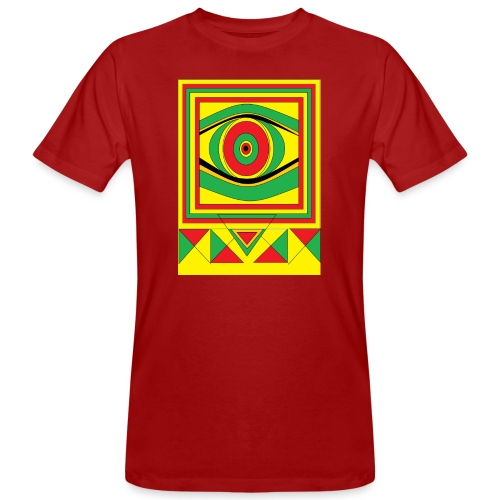 ALL seeing eye RASTA burn down babylon Original - Mannen Bio-T-shirt