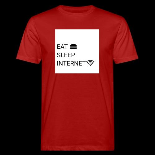 EAT SLEEP INTERNET - Men's Organic T-Shirt