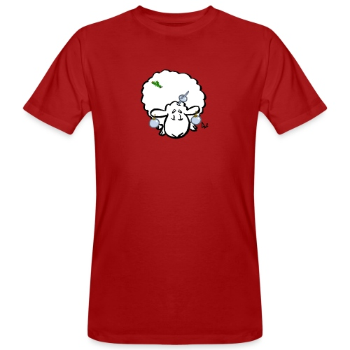 Christmas Tree Sheep - Men's Organic T-Shirt