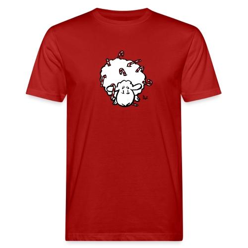 Candy Cane Sheep - Men's Organic T-Shirt