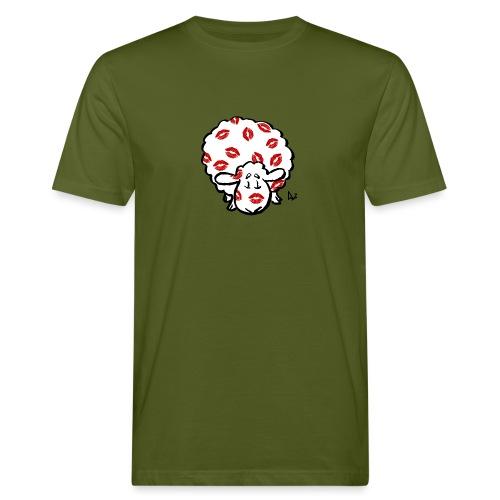 Kuss Mutterschaf - Männer Bio-T-Shirt