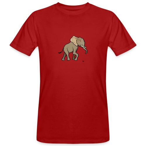 African Elephant - Men's Organic T-Shirt