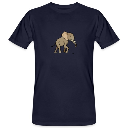 African Elephant - Men's Organic T-Shirt