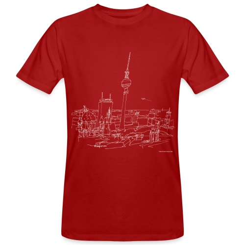 Berlin Panorama (w) - Männer Bio-T-Shirt