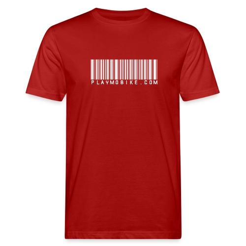 playmobikecom barcode w - Männer Bio-T-Shirt