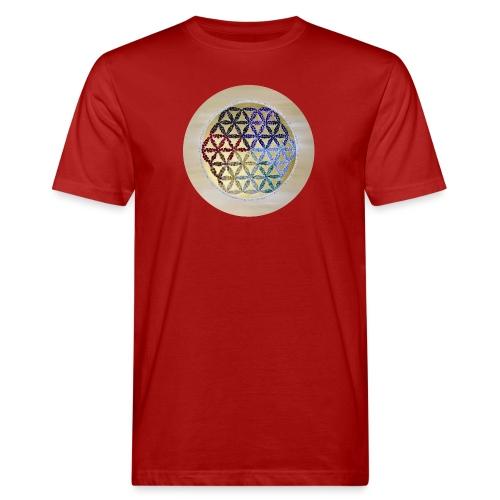 Die Lebensblume - Männer Bio-T-Shirt