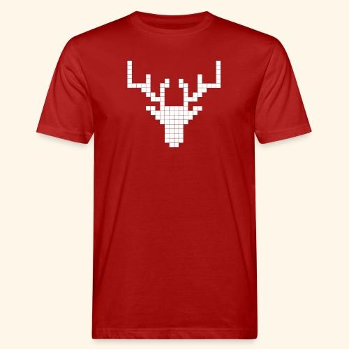 PIXELHIRSCH - only - Männer Bio-T-Shirt