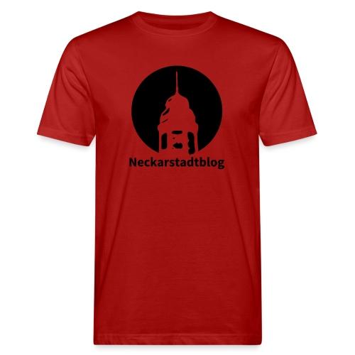 Logo mit Schriftzug inv. (Alternative Farben) - Männer Bio-T-Shirt