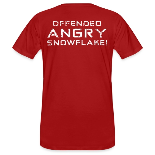 White Negant logo + OFFENDED ANGRY SNOWFLAKE! - Organic mænd