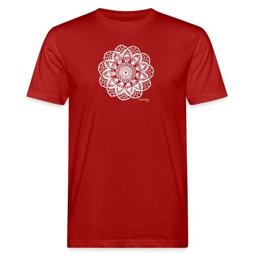 Granny´s Flower, valkoinen - Miesten luonnonmukainen t-paita