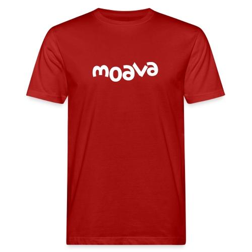 Moavalogo white - Økologisk T-skjorte for menn