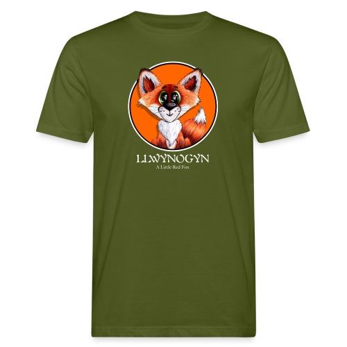 llwynogyn - a little red fox (white) - Miesten luonnonmukainen t-paita
