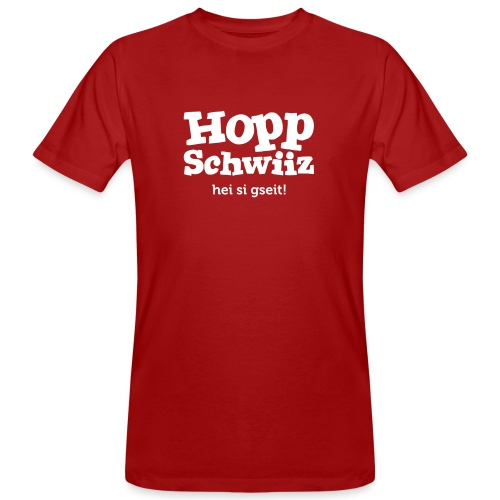 Hopp-Schwiiz hei si gseit - Männer Bio-T-Shirt