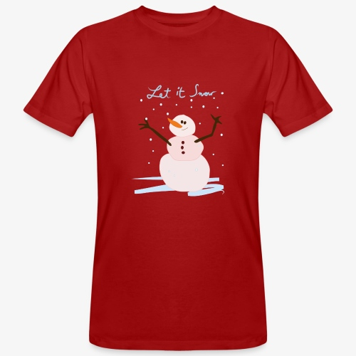 snowman let it snow - T-shirt bio Homme