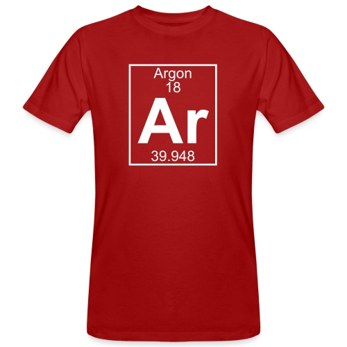 Argon (Ar) (element 18) - Men's Organic T-Shirt