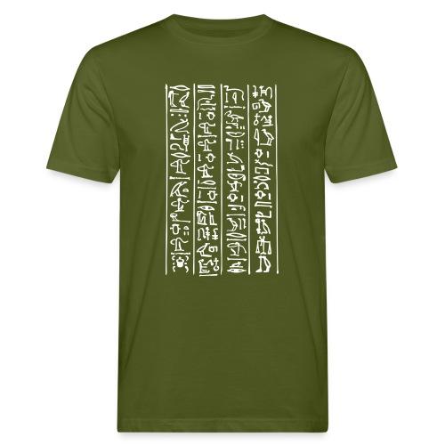 Hieroglyphen - Männer Bio-T-Shirt