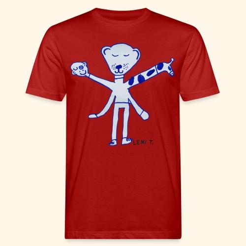 LeniT Teddy With a Twist - Miesten luonnonmukainen t-paita