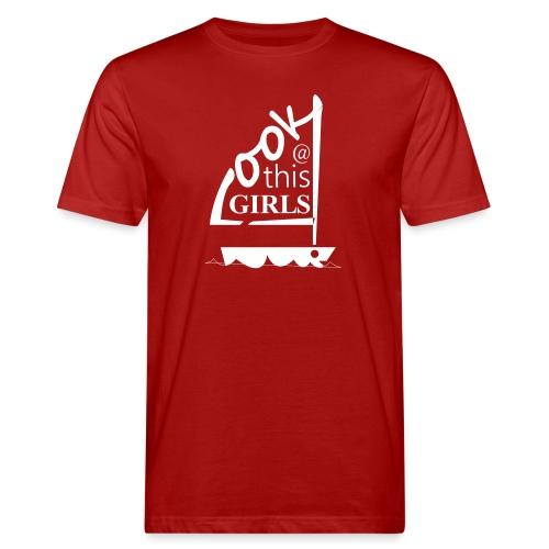 AndriesBik look thisGIRLS shirt witteletters - Mannen Bio-T-shirt