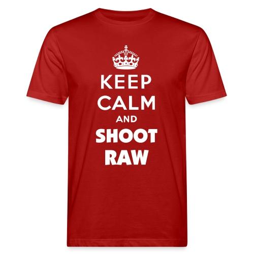 Keep calm and shoot RAW - Männer Bio-T-Shirt
