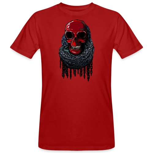 RED Skull in Chains - Men's Organic T-Shirt