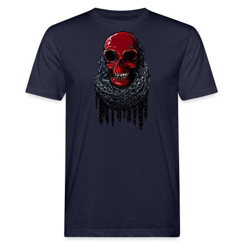 RED Skull in Chains - Men's Organic T-Shirt