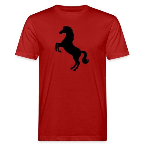 Pferd steigend - Männer Bio-T-Shirt