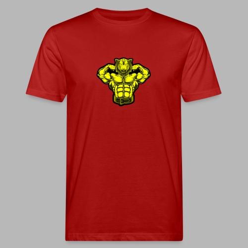 Bodybuilder Wolf - Männer Bio-T-Shirt