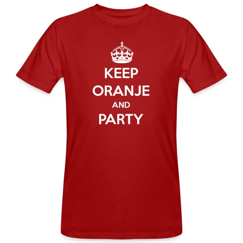 KEEP ORANJE AND PARTY - Mannen Bio-T-shirt