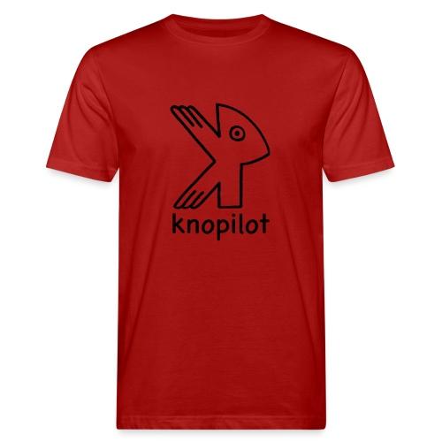 K-Vogel schwarz Knopilot - Männer Bio-T-Shirt