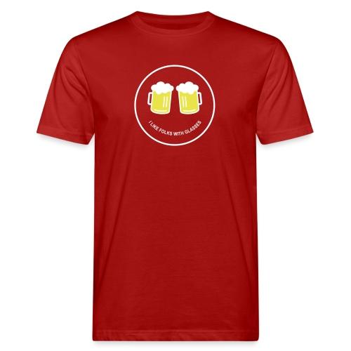 Bier Smiley – Oktoberfest – Bierzelt – Aprèski - Männer Bio-T-Shirt