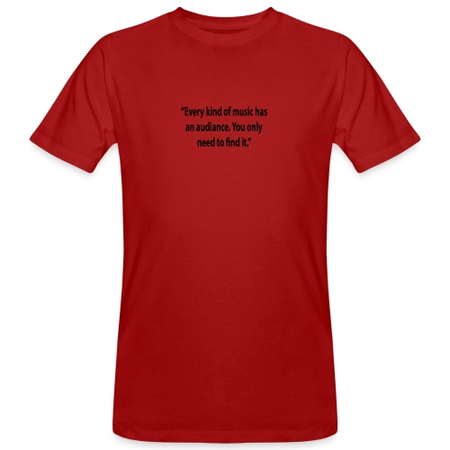 Quote RobRibbelink audiance Phone case - Men's Organic T-Shirt