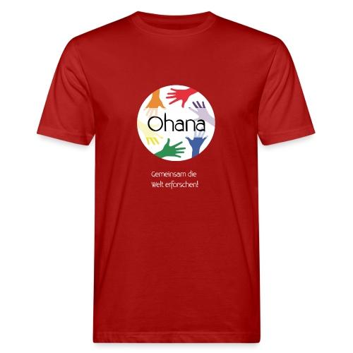 Logo mit weißem Text - Männer Bio-T-Shirt