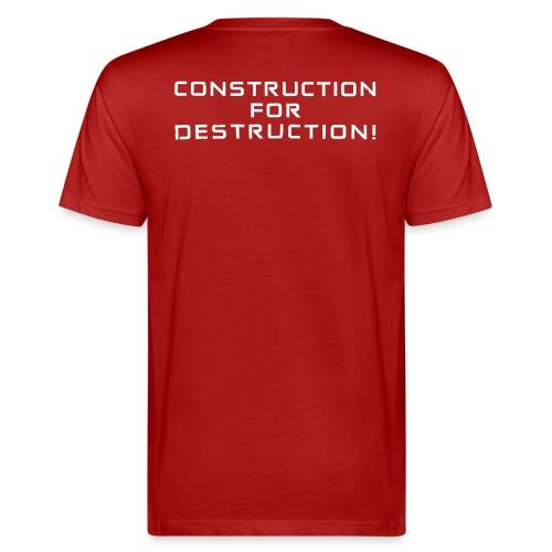 White Negant logo + CONSTRUCTION FOR DESTRUCTION! - Organic mænd