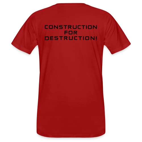 Black Negant logo + CONTRUCTION FOR DESTRUCTION! - Organic mænd