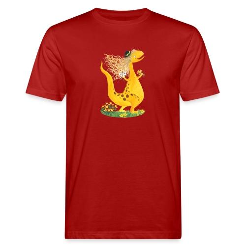 Sumpfdotterdino mit schwarzem Logo - KlingBim - Männer Bio-T-Shirt