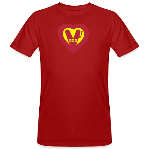 super vegan heart - Men's Organic T-Shirt