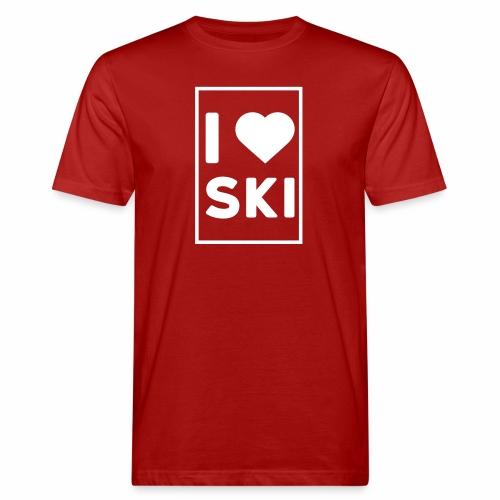 I love ski - T-shirt bio Homme