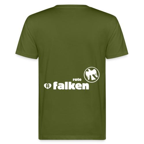 RF Logo Schriftzug schwarz - Männer Bio-T-Shirt