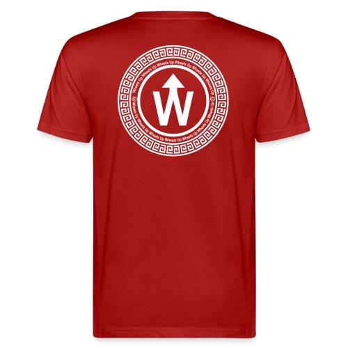 wit logo transparante achtergrond - Mannen Bio-T-shirt