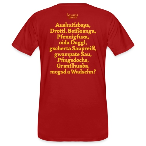 Bayrische Schimpfwörter Nr.1 - Männer Bio-T-Shirt